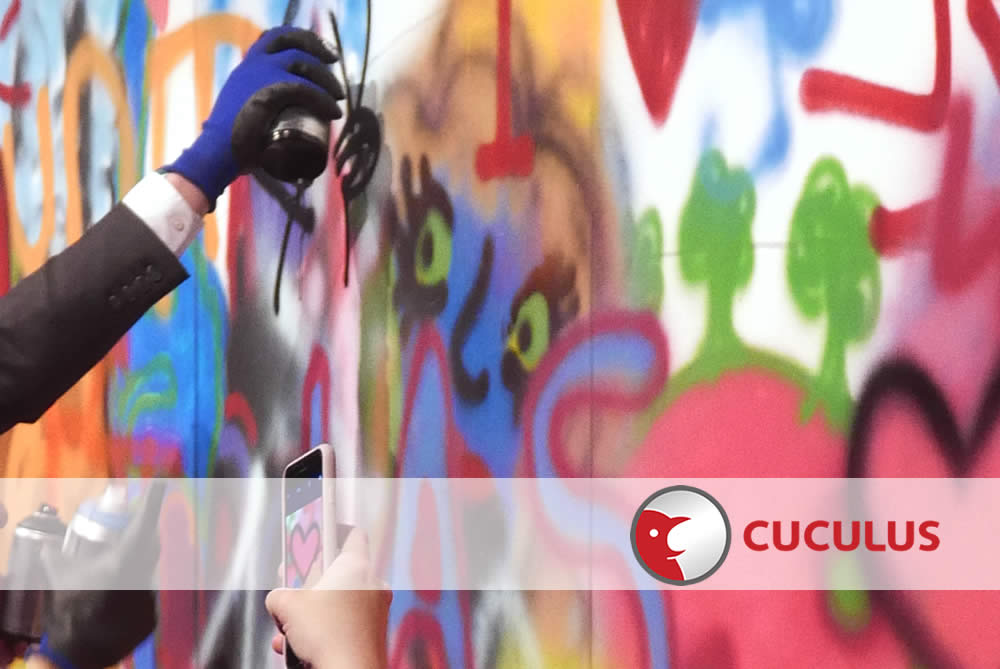 Graffiti – Street Art mit Cuculus in Jena